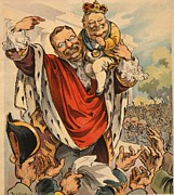 Taft Posters - Cartoon Shows William Taft 1857-1930 Poster by Everett