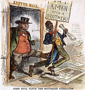 Abolition Metal Prints - Cartoon: Slavery, 1861 Metal Print by Granger