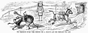 Anthropomorphism Framed Prints - Cartoon: Telephone, 1886 Framed Print by Granger