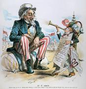 Bank Panic Framed Prints - Cartoon: Uncle Sam, 1893 Framed Print by Granger