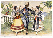 Puerto Rico Prints - Cartoon: Uncle Sam, 1898 Print by Granger