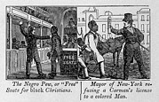 Slavery Prints - Cartoons Depicting The Racial Print by Everett