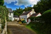Kim Shatwell Digital Art - Cartwheel Cottages by Kim Shatwell-Irishphotographer