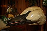 Carved Goose Print by Susan Herber