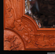 Mirror Sculptures - Carved mirror frame by Scott Reuman