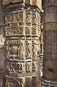 Qutb Posters - Carved Pillars in the Qutub Complex Poster by Bryan Mullennix