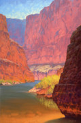 Western Usa Painting Posters - Carving Castles Poster by Cody DeLong