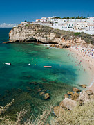 Europe Photos - Carvoeiro Grotto by Jim Chamberlain