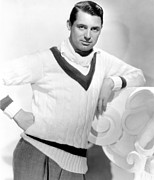 V-neck Sweater Prints - Cary Grant, 1934 Print by Everett