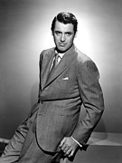 Cary Photo Framed Prints - Cary Grant, Ca. 1940s Framed Print by Everett