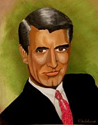 Cary Framed Prints - Cary Grant Framed Print by Victoria Rhodehouse