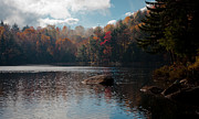 Fir Trees Photos - Cary Lake in the Adirondacks by David Patterson