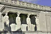 Caryatids Framed Prints - Caryatids at the Museum Framed Print by David Bearden