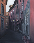 Cityscape Paintings - Casa Cordati II by Leah Wiedemer