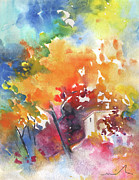 Spanish House Paintings - Casa de Campo 01 by Miki De Goodaboom