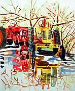 Casa Painting Originals - Casa de Fruita Tractor 1 by Gerald Carpenter