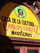 Neighborhood Prints - Casa De La Cultura Print by David Bearden