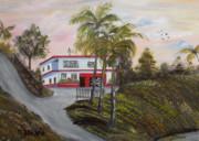 Casa En Montanas De Cerro Gordo Print by Gloria E Barreto-Rodriguez