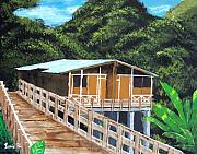 Puerto Rico Paintings - Casa Grande by Luis F Rodriguez