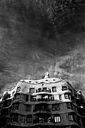 Buildings Framed Prints - Casa Mila Framed Print by David Bowman