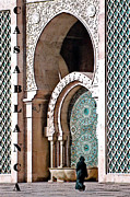 Muslim Digital Art Posters - Casablanca Mosque Poster by Linda  Parker