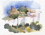 Stephanie Aarons Painting Metal Prints - Casares 1 Metal Print by Stephanie Aarons