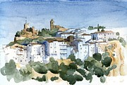 Pueblo Blanco Metal Prints - Casares 2 Metal Print by Stephanie Aarons