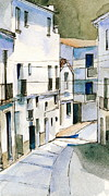 Stephanie Aarons Painting Metal Prints - Casares Street Metal Print by Stephanie Aarons