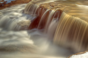 Golden Brown Prints - Cascade at Blue Hen Falls Print by Jennifer Grover