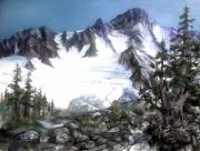 Northwest Landscape Mixed Media - Cascade Splendor  Mount Fury by Sherry Shipley