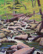 New Jersey Pastels Originals - Cascades by Marion Derrett