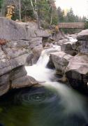 White Mountains New Hampshire Posters - Cascades of the Ammonoosuc River Poster by George Oze