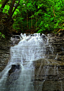 One Of A Kind Framed Prints - Cascading Falls Framed Print by Robert Harmon