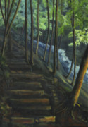 Steps Painting Originals - Cascading Steps by Joyce Huntington