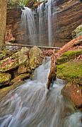 Precipitation Metal Prints - Cascading Waterfall Metal Print by Douglas Barnett