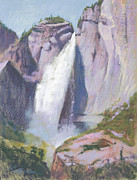 National Pastels Originals - Cascading Waters by Reif Erickson