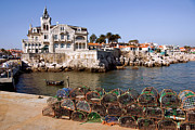 Pot Boat Framed Prints - Cascais Bay Framed Print by Carlos Caetano