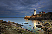 Portland Head Lighthouse Framed Prints - Casco Reflections Framed Print by Rick Berk