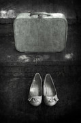 Vintage Texture Framed Prints - Case And Shoes Framed Print by Joana Kruse