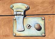 Instrument Paintings - Case Latch by Ken Powers