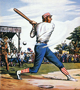 Batter Prints - Casey At The Bat, 1888 Print by Granger