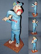 Small Statue Ceramics - Casey at the Bat by Bob Dann