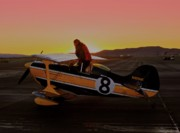 Biplane Originals - Casey Erickson and Pitts Racer 8 Batplane by Gus McCrea