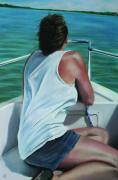Woman On Boats Pastels Prints - Casey Key Print by Paul Autodore