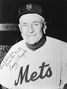 Autograph Art - Casey Stengel (1890-1975) by Granger