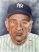 New York Yankees Drawings - Casey Stengel by Rob Payne