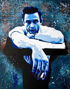 Pop Art Paintings - Cash - Preacher Man by Bobby Zeik