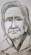 Actors Drawings Originals - Cash Caricature by Pete Maier