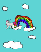 Cash Crap Unicorn Print by Jera Sky