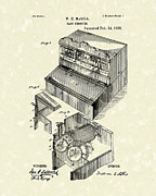 Register Drawings Framed Prints - Cash Register 1885 Patent Art Framed Print by Prior Art Design